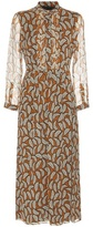 Burberry Carla Printed Pleated Silk Dress