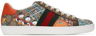 Gucci Beige Disney Edition GG Supreme Ace Sneakers