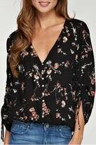 Love Stitch Lovestitch Printed Shirred Sleeve Blouse