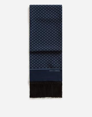 Dolce & Gabbana Scarf In Printed Silk