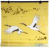 Oriental Furniture Cranes Shoji Window Blinds, 48-Inch Yellow