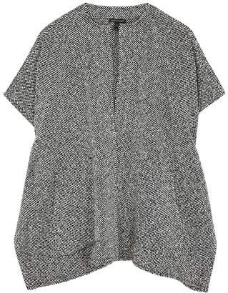 Eileen Fisher Monochrome Woven Cotton Cardigan