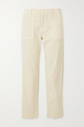 Nili Lotan Jenna Cropped Cotton-blend Corduroy Skinny Pants - White