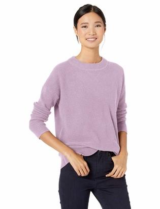 Goodthreads Amazon Brand Women's Wool Blend Thermal Stitch Crewneck Sweater
