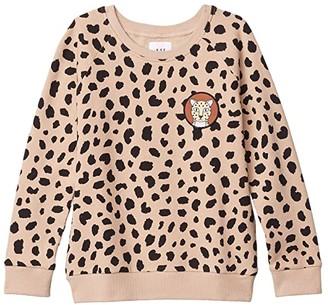 HUXBABY Animal Spot Sweatshirt (Little Kids/Big Kids) (Sand) Girl's Clothing