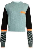 Toga Geometric intarsia-knit wool-blend sweater