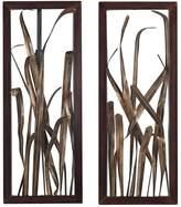 Sterling 2-piece ''Hayfield Grass'' Framed Metal Wall Decor Set
