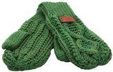 Carrolls Irish Gifts Knit Style Aran Cable Emerald Mitten Gloves