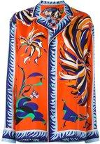 Emilio Pucci floral print longsleeved shirt - women - Silk - 42