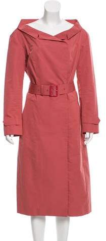 Burberry Belted Midi Dress