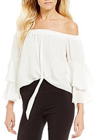 Takara Tie-Front Tiered Sleeve Top