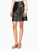 Kate Spade Scallop leather skirt