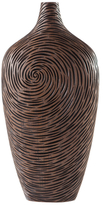 Torre & Tagus Tall Carved Swirl Vase