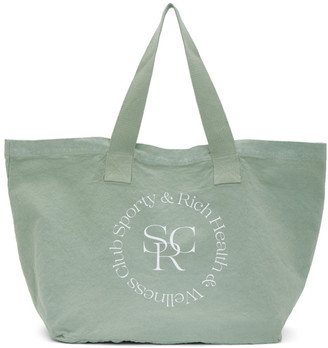 Sporty and Rich Green Logo Tote