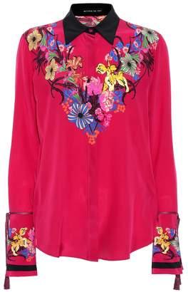 Etro Floral printed silk blouse