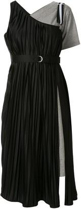 Maison Mihara Yasuhiro Pleated Asymmetric Dress