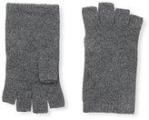 Sofia Cashmere Women's Fingerless Gloves, Charcoal