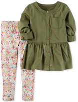 Carter's 2-Pc. Peplum Tunic & Leggings Set, Baby Girls (0-24 months)