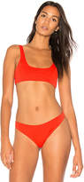 KENDALL + KYLIE X REVOLVE 90s Low Scoop Bralette in Red. - size L (also in M,S,XS)