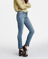 Free People Slit Raw-Hem Skinny Jeans