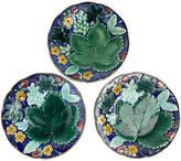 One Kings Lane Vintage Swedish Majolica Grape Leaf Plates