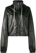 Rick Owens cropped windbreaker - women - Cotton/Leather/Cupro - 42