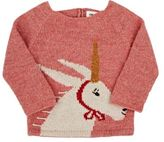 Oeuf Women's Goat With Horn Alpaca Sweater-PINK