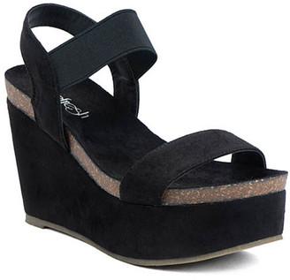 Refresh Women's Sandals BLACK - Black Gracie Wedge Sandal - Women