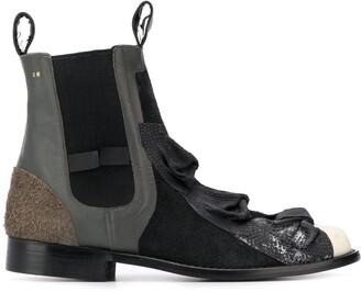 Comme Des Garçons Pre Owned 1990's bow details Chelsea boots