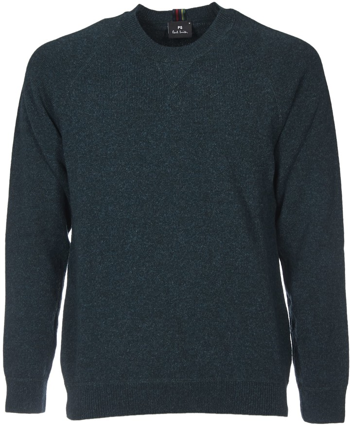 Paul Smith Green Pullover With Multicolor Label