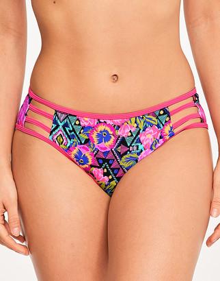 Figleaves Santa Rosa Strapping Floral Bikini Brief