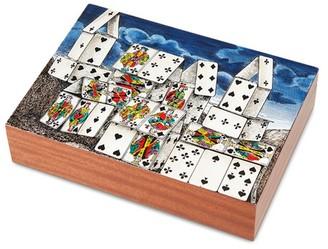 Fornasetti Citta di Carte playing card box