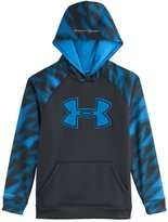 Under Armour Big Boys' UA Storm Armour Fleece Big Logo Blocked Hoodie YXL ANTHRACITE