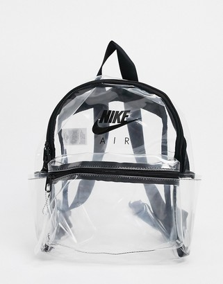 Nike clear transparent mini backpack