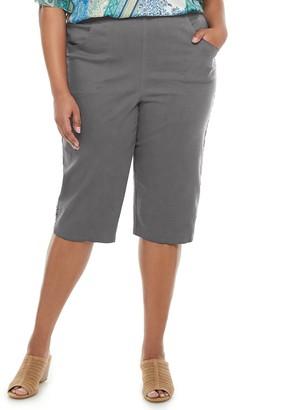 Croft & Barrow Plus Size Crisscross Hem Capri Pants