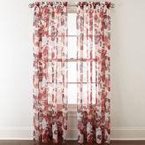 Liz Claiborne Lisette Floral Rod-Pocket Sheer Curtain Panel