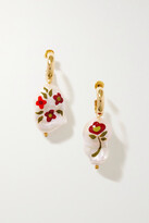 Thumbnail for your product : Simone Rocha Gold-plated Pearl Hoop Earrings - White