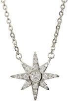 Melinda Maria Pave Starburst Pendant Necklace