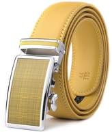 XHtang Men's Ratchet Belt Automatic Buckle Leather Belt 35mm Wide