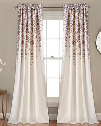 Triangle Home Fashion Weeping Flower Room Darkening Window Curtain