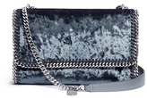 Stella McCartney 'Falabella' crushed velvet chain shoulder bag