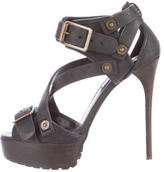Burberry Multistrap Platform Sandals