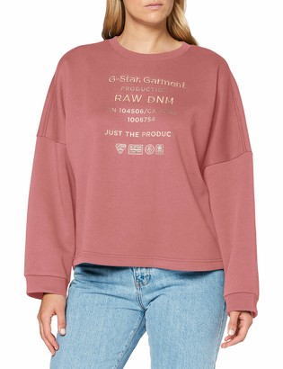 G Star Women's Graphic Text Relaxed Sweater