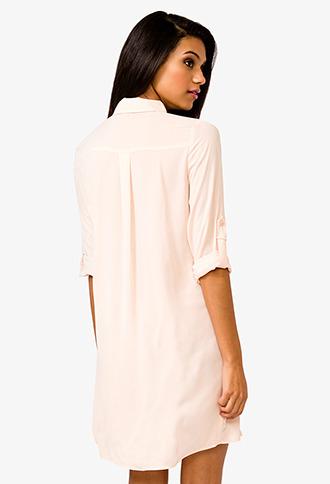 Forever 21 Belted Shirtdress
