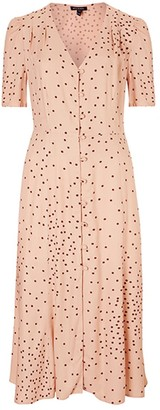 Baukjen Casey Dress - Light Peach Polka