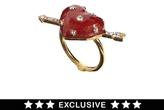 Asos Bill Skinner Exclusive For Enamel Heart Ring - Red