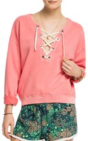 Scotch & Soda Lace-Up Sweatshirt