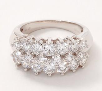 Fire Light Lab Grown Diamond 14K Gold Band Ring, 3.00cttw