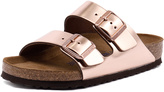 Birkenstock Arizona Metallic Copper Leather