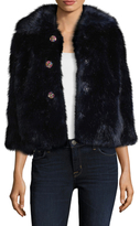 Manoush Faux Fur Rhinestone Coat